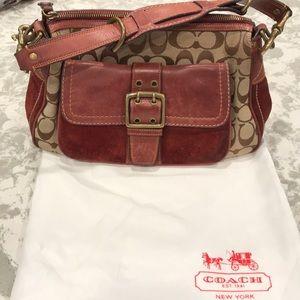 Authentic Coach shoulder bag with dust bag